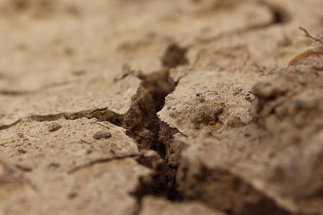 crack, land, drought