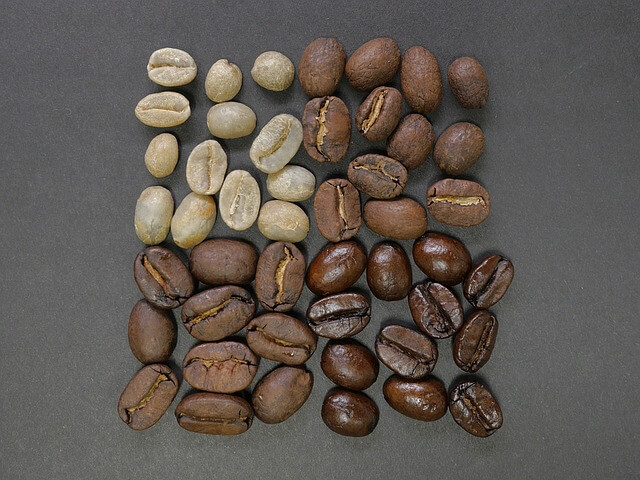 coffee beans, square, divisions